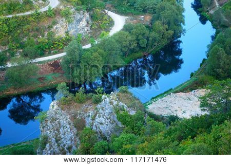 Blue river Krka
