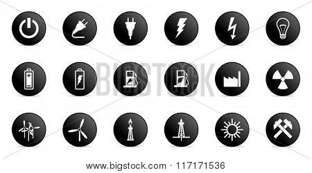 business and electricity internet icons set
