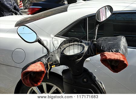 scooters and gloves