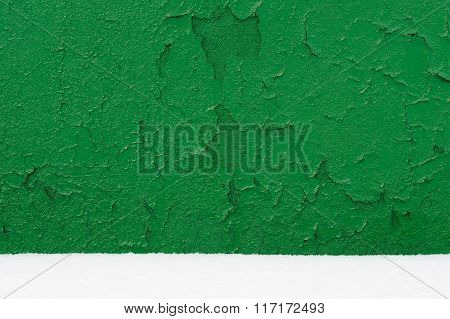 Old Wall Painted Green Background
