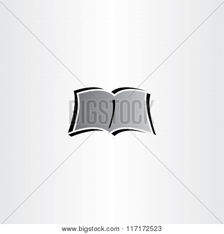 Newspaper Book Reading Logo Vector Icon