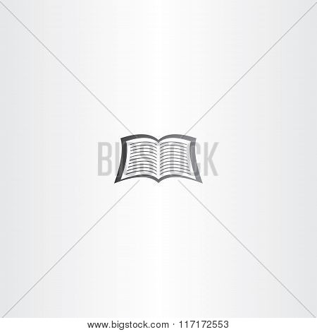 Open Notebook Or Newspaper Vector Book Logo Icon