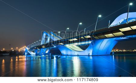Sheikh Zayed Bridge At Night, Abu Dhabi, Uae