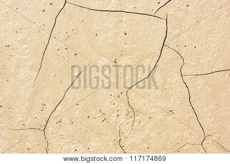 Details Of A Dried Cracked Seabed