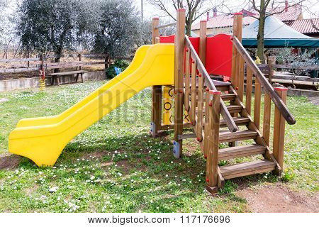 Facilities For Children In A Playground.