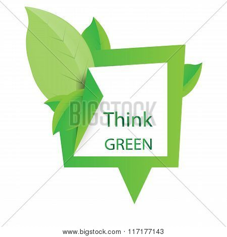 Think green design illustration vector