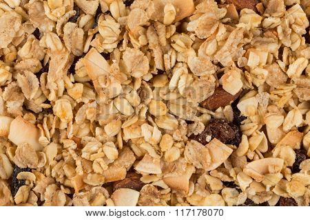 Closeup Of A Pile Of Muesli