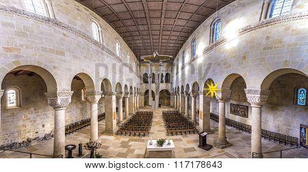Inside Famous Church Servatius  In Quedlinburg