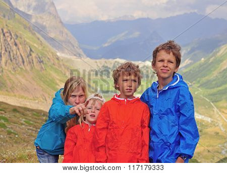 Family In Mountains