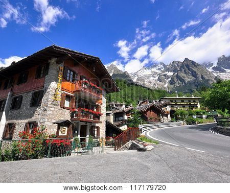 Alpine House Near Montblanc