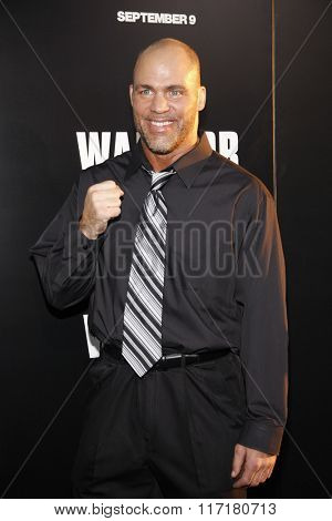 Kurt Angle at the Los Angeles premiere of