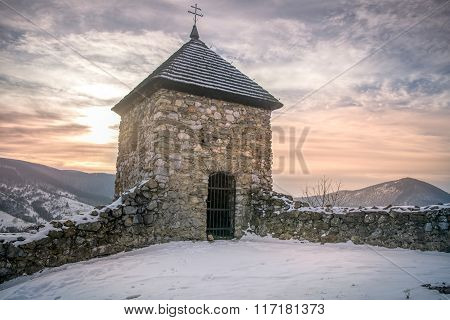Medieval chapel in the mountains