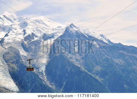 Cable Car In Chamonix Mont Blanc, France