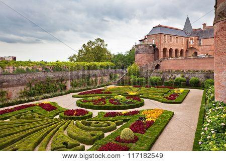 Palais De La Berbie Gardens At Albi, Tarn, France