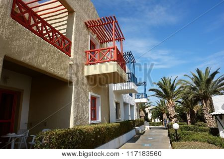 Building With Red Balcones.