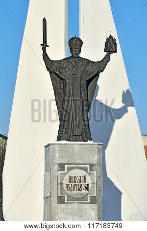 Monument To St Nicholas Wonderworker. Kaliningrad, Russia