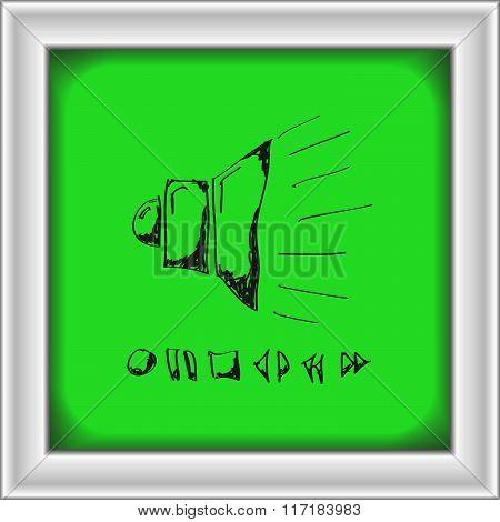 Simple Doodle Of A Speaker