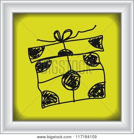 Simple Doodle Of A Present