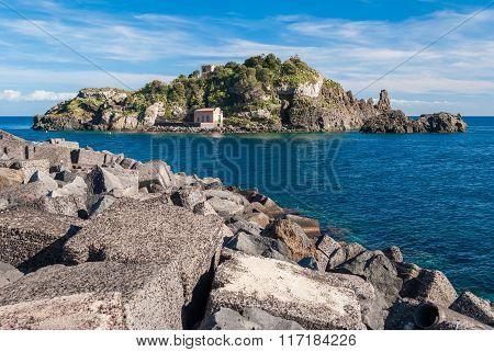 The Island Lachea In The Coastline In The