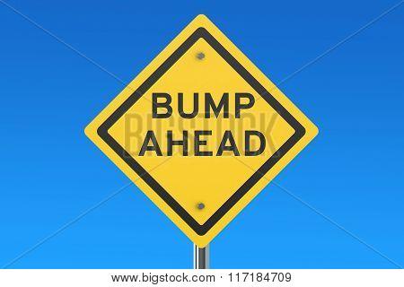Bump Ahead Road Sign