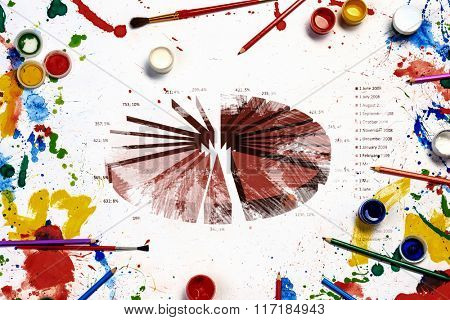 Colorful infographs on white background