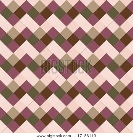 Seamless geometric checked pattern. Diagonal square, braiding, woven line background. Patchwork, rho
