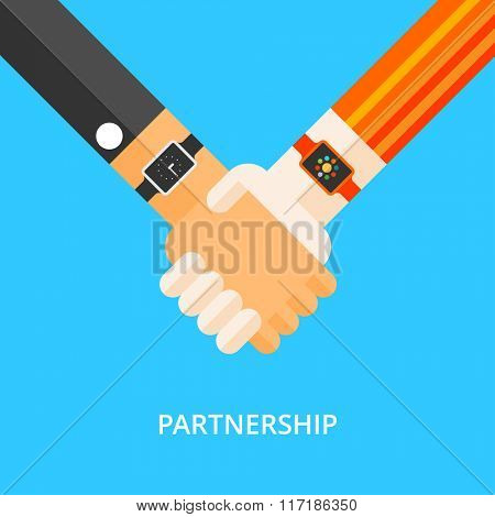 The use of smart watches, business partnerships, exchange of data