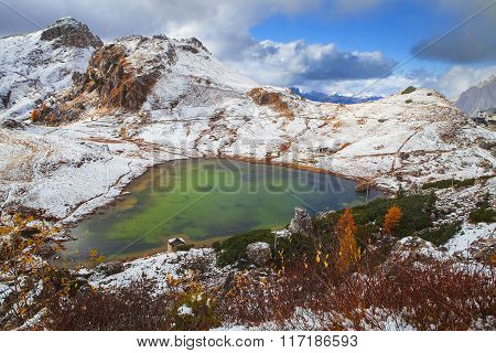 Valporola lake, Dolomites