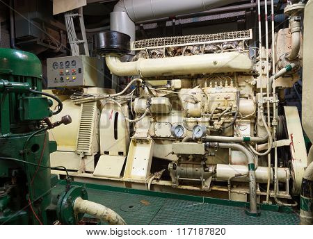 Ships engine room,