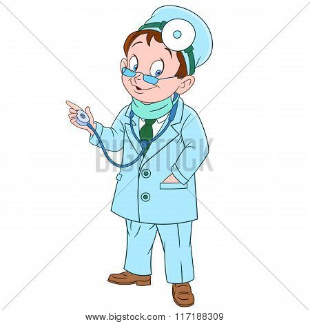 Cute Cartoon Doctor