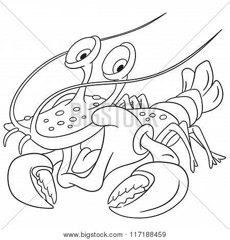 Cute Cartoon Lobster