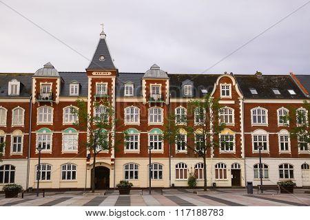 Market Square (axeltorv) In Fredericia, Denmark