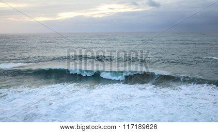maritime Wild Atlantic waves Seascape Algarve Portugal
