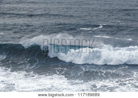 Maritime Wild Atlantic Waves In Winter Algarve