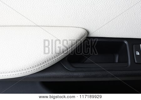 Car Interior. Door Handle