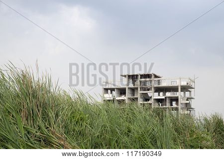 Abandoned Construction Site of Apartment
