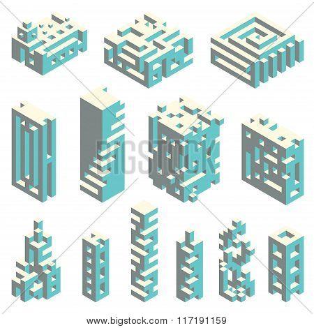 Isometric cubes architecture