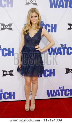Erin Moriarty at the Los Angeles premiere of