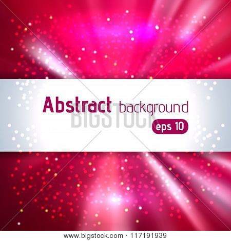 Abstract Artistic Background With Place For Text. Pink, Red, Purple Colors. Color Rays Of Light. Ori