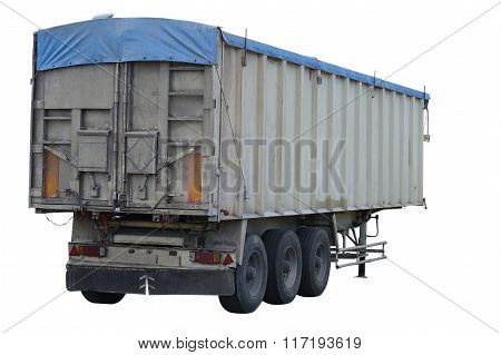 cargo trailer isolated on white background