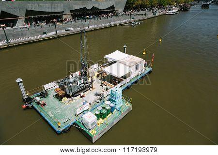 Dredging Barge, Yarra River, Melbourne.