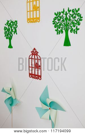 Kid Bedroom Wall With Decoration