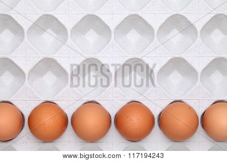 brown egg with package