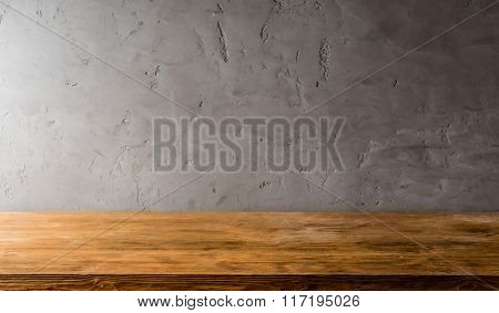 wall and wood plank