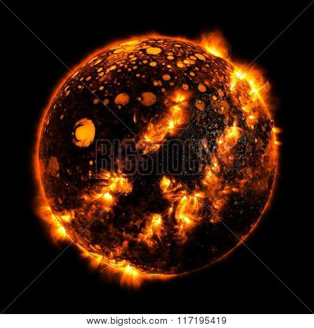 Hot Planet Elements Of This Image Furnished By Nasa