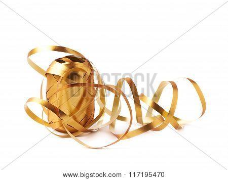 Glossy ribbon reel isolated