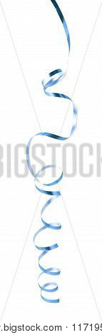 Curly and glossy ribbon isolated
