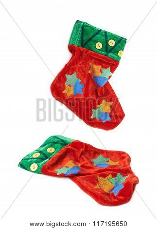 Christmas stocking isolated