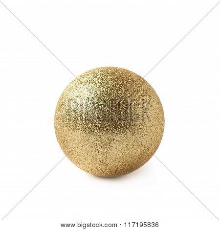 Single Christmas ball isolated