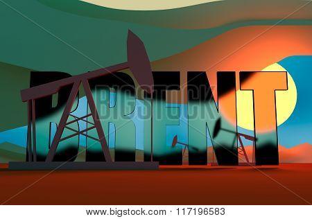 Oil Pumps In Sunset Illustration